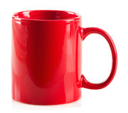 Red mug on a white background Royalty Free Stock Photos