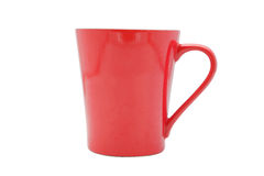 This is a red mug. Royalty Free Stock Photo