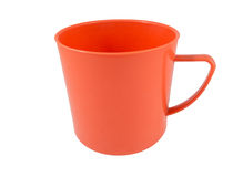 Red mug on a white background Royalty Free Stock Images