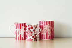 Red mugs Royalty Free Stock Image