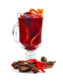 Red mulled wine Stock Photos