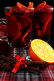 Red mulled wine Royalty Free Stock Images