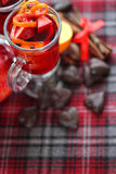 Red mulled wine Royalty Free Stock Image
