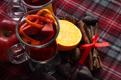 Red mulled wine Stock Images