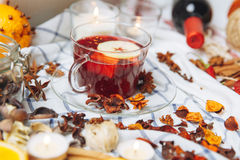 Red mulled wine Royalty Free Stock Photos