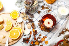 Red mulled wine Royalty Free Stock Photography
