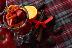 Red mulled wine Stock Photography