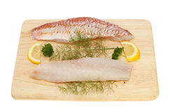 Red mullet fillets Royalty Free Stock Photography