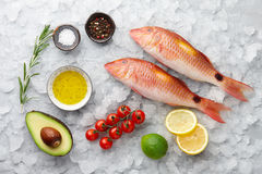 Red mullet fish cooking Royalty Free Stock Photo