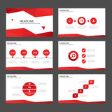 Red Multipurpose Infographic elements and icon presentation template flat design set for advertising marketing brochure flyer Royalty Free Stock Photo