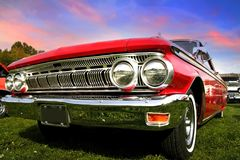 Red Muscle Car Stock Image