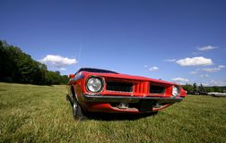 Red Muscle Car Royalty Free Stock Image