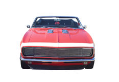 Red muscle car convertible Royalty Free Stock Photos