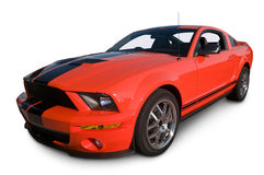 Red Muscle Car Front View Stock Photography