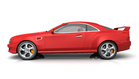 Red muscle car Stock Photos
