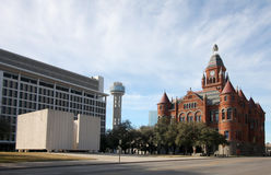 Red museum and Reunion tower Royalty Free Stock Image