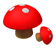 Red mushroom Royalty Free Stock Photos
