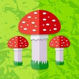 Red Mushroom. Vector illustration. Royalty Free Stock Images