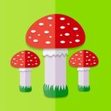 Red Mushroom. Vector illustration. Stock Image