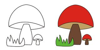 Red mushrooms Stock Images