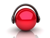 Red music lover Stock Images