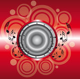 Red musical background Stock Images