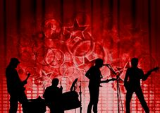 Red musical design Royalty Free Stock Image