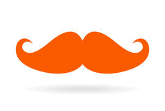 Red mustache vector icon Royalty Free Stock Photography