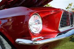 Red Mustang. On display at a car show Stock Photography