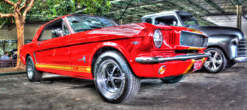 Red Mustang Royalty Free Stock Image