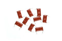 Red mylar Capacitor Royalty Free Stock Photo