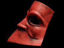 Red mysterious mask Stock Photos