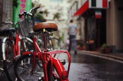 Red Nad Black Bicycle Stock Photography