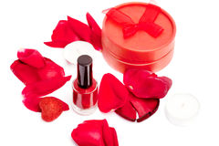 Red nail care Royalty Free Stock Photography
