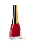 Red nail polish Stock Images