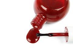 Red nail polish Stock Image