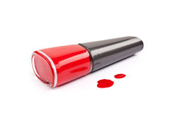 Red nail polish Stock Photos