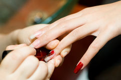Red Nail Polish Royalty Free Stock Images