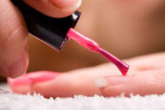 Red nail polish Stock Photography