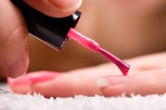 Red nail polish Stock Photography