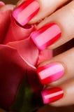 Red nail polish. Royalty Free Stock Photography