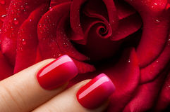 Red nail polish. stock photography
