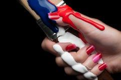 Red nail polish. Stock Photo