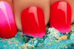 Red nail polish. Stock Images