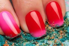Red nail polish. Stock Image