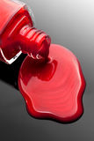 Red nail polish bottle Stock Image