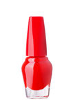 Red nail polish bottle Stock Images
