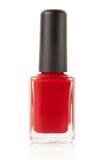 Red nail polish bottle Royalty Free Stock Photo