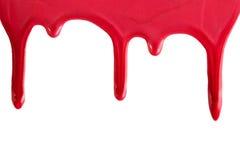 Red nail polish drops Royalty Free Stock Photo