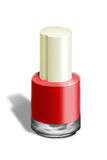 Red nail-polish Stock Photography